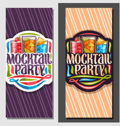 Vertical banners for mocktail party vector