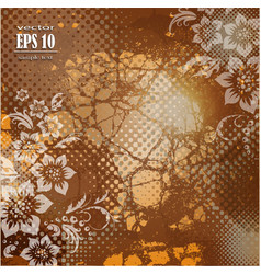 Vintage background with flowers vector image