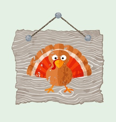 Wooden Sign with Turkey vector image