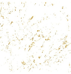 Grunge marble texture white gold glitter vector image vector image