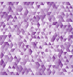 lilac abstract triangles background vector image vector image