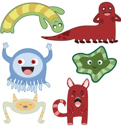monsters4 vector image vector image