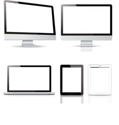 pack computer tablet electronic devices vector image