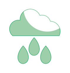 Silhouette cloud with rain and natural weather vector