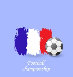 Soccer ball and the flag of France Football vector image