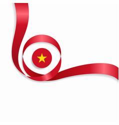 vietnamese wavy flag background vector image