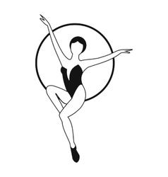 Woman trapeze artist simple icon vector image