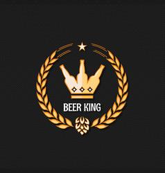 beer bottle concept logo background vector image