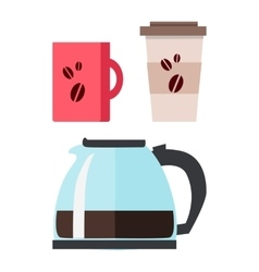 Coffee Maker with Cup vector image vector image