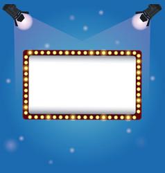 color background spotlights with billboard banner vector image vector image