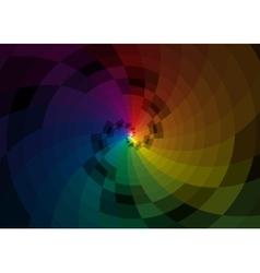 Color spiral background vector image