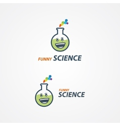 Funny science logo vector image
