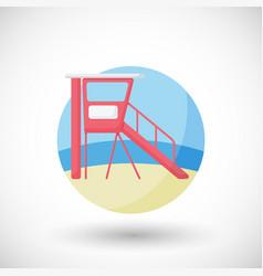 lifeguard station flat icon vector image