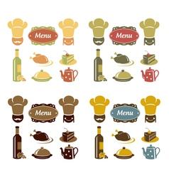 Restaurant menu icons set vector image vector image