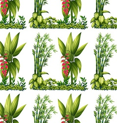 Seamless plants vector image vector image