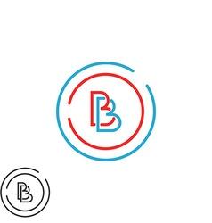 Two letter B logo monogram bb overlapping symbol vector image vector image