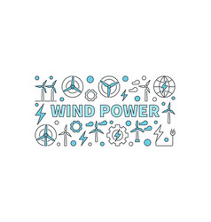 wind power creative banner vector image