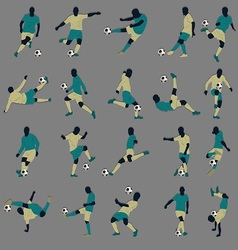 20 Soccer Silhouette vector image vector image