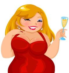 curvy girl vector image vector image