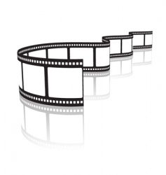 film on a white vector image vector image