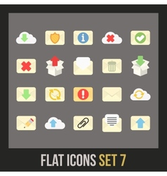 Flat icons set 7 vector image vector image