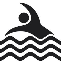 swimmer Icon vector image