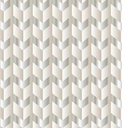 Chevron white and silver vector image vector image