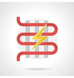 Colorful icon for electric heated floor vector image vector image