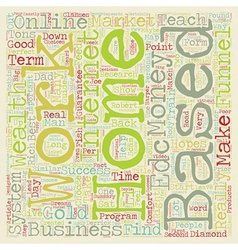 How To Choose The Right Home Based Business And vector image vector image