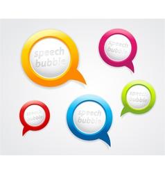 Set of speech bubbles vector image