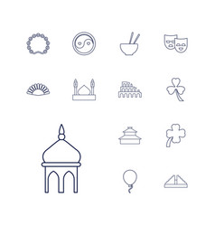 13 culture icons vector