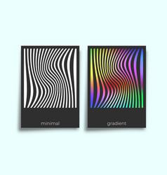abstract geometric gradient texture minimal design vector image
