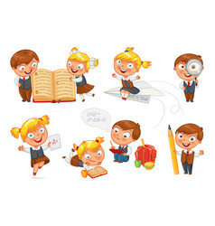 back to school funny cartoon character vector image
