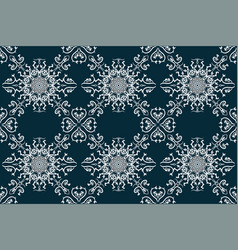 beautiful blue seamless pattern hand drawn vector image