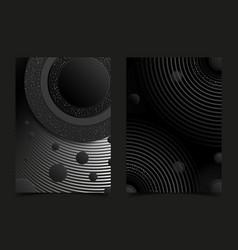 black flyer or banner design template background vector image
