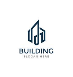 Building logo skyline logo city logo vector