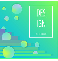 colorful geometric background fluid shapes vector image