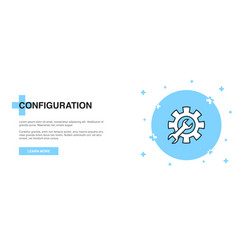 configuration line icon simple icon banner vector image
