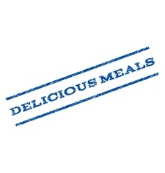 Delicious meals watermark stamp vector