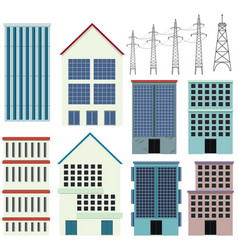 different designs of office buildings vector image
