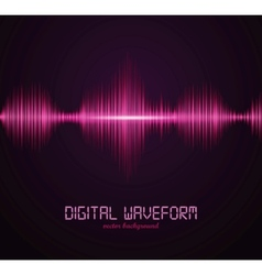 digital waveform vector image