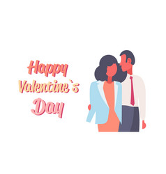 elegant couple in love happy valentines day vector image