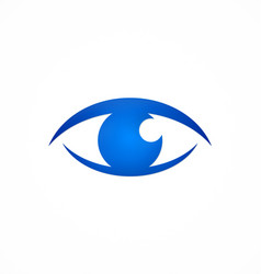 Eye optic focus logo vector