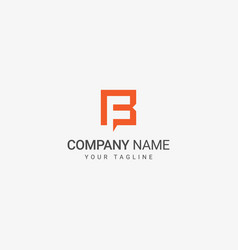 f and b logo vector image