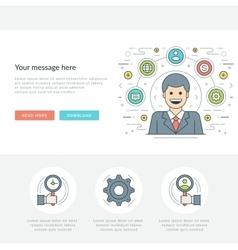 Flat line Business Management Concept vector image