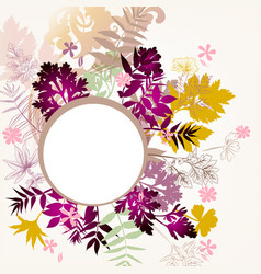Floral background with autumn foliage vector