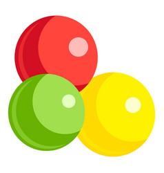 Fruits gumball icon cartoon style vector