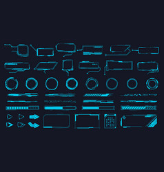 Futuristic interface ui elements holographic hud vector