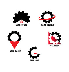 gear set logo vector image