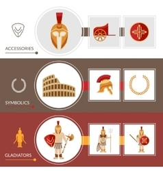 Gladiator Banner Set vector image
